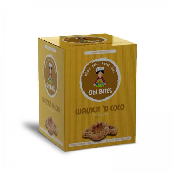 Oh! BITES Walnut n` Coco no sugar no preservatives with stevia