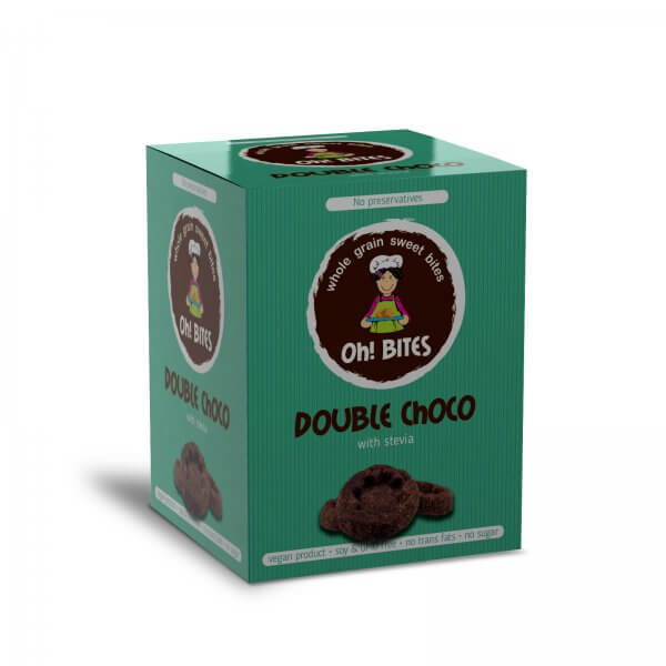 Oh! BITES Double choco without sugar without preservatives WITH stevia