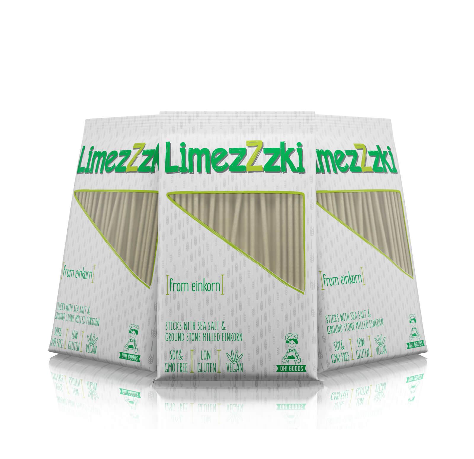LimezZzki patented einkorn sticks low gluten suitable for kids